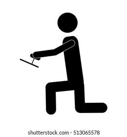 handy man or engineer icon image