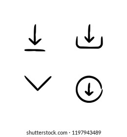 Handy web button, signs and buttons outline lineal icon set EPS 10 vector format. Transparent background.