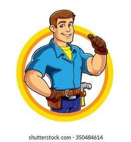 Handyman cartoon
