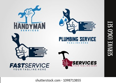 Handyman and Plumbing Logo Template