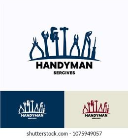 Handyman Service Logo Template Design. Creative Vector Emblem, for Icon or Design Concept.