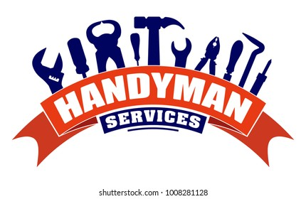 handyman logo images stock photos vectors shutterstock rh shutterstock com handyman logos and clip art free handyman logos and clip art free