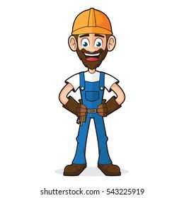 Handyman Smiling and Posing
