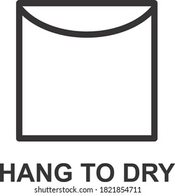 HANG TO DRY ICON, SIGN AND SYMBOL