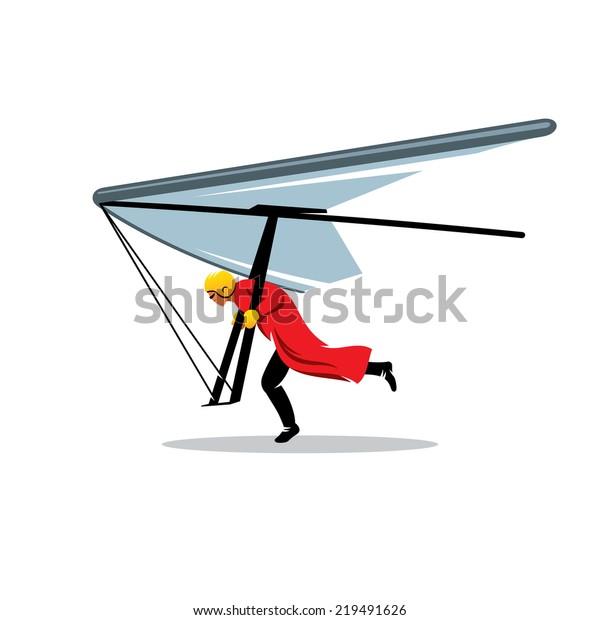 Hang Gliding Branding Identity Corporate Vector Stock Vector