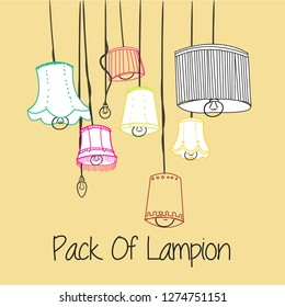 Hang Of Many Beauty Colorful Lampion
