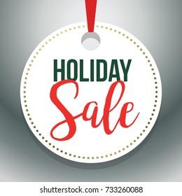 Hang Tag Holiday Sale Vector Illustration 1