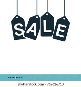Hang Tag Sale Icon Vector Logo Template