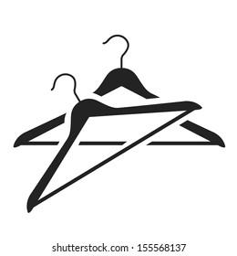 hanger black icon. vector illustration