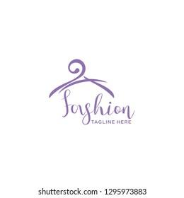 Hanger Fashion Boutique Logo Vector Template