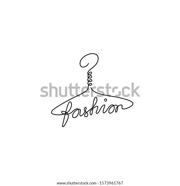 Hanger Fashion Inscription Emblem Logo Design Stock Vector Royalty Free 1573961767