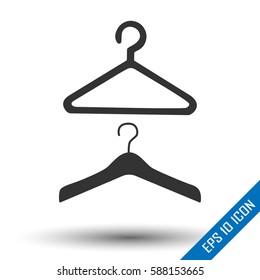 Hanger flat icon. Hangers logo. Hanger gear. Hanger symbol.