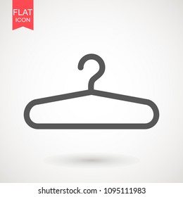 Hanger flat - Vector icon. Hanger icon isolated on white background