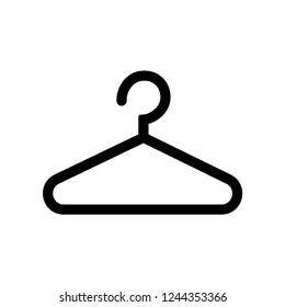 Hanger icon in black on a white background. Vector illustration