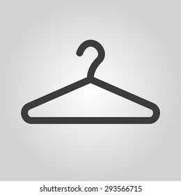 The hanger icon. Coat rack symbol. Flat Vector illustration