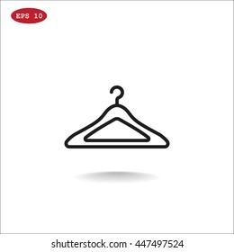 Hanger icon flat.