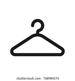 Hanger icon isolated on background. Clothes hanger. Vector stock.