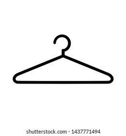 Hanger icon isolated on white background vector illustration.