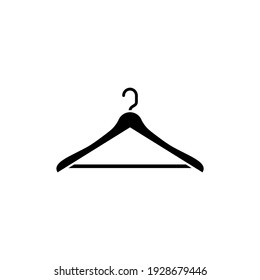 Hanger icon isolated on white background. Vector illustration for web and mobile apps, fashion or apparel design element.