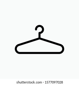 Hanger Icon. Laundry Elements Illustration As A Simple Vector Sign & Trendy Symbol for Design, Websites, Presentation or Application.