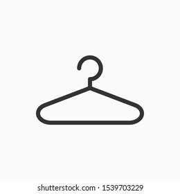 Hanger Icon. Laundry Illustration As A Simple Vector Sign & Trendy Symbol for Design, Websites, Presentation or Application.