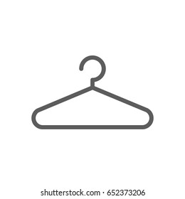 Hanger icon in trendy flat style isolated on white background. Symbol for your web site design, logo, app, UI. Vector illustration, EPS