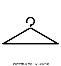 Hanger icon vector sign illustration trendy design, isolated on white background