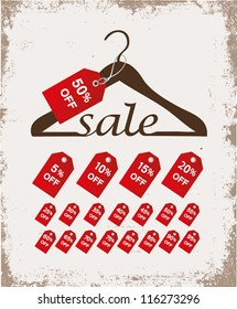Hanger with sale percents