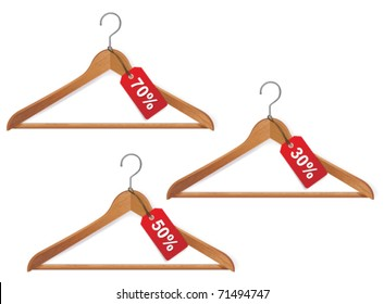 hanger with sale tag