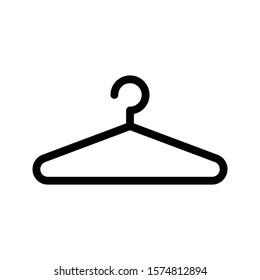 hanger vector glyph flat icon
