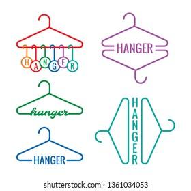 hanger word and hanger shape concept