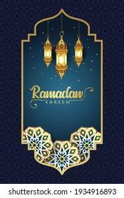 Hanging arabic Lantern for Ramadan Kareem and eid mubarak. pattern,background.vector illustration