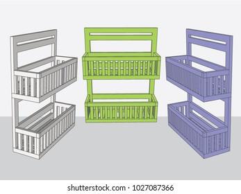 hanging baskets, Vector & Illustration