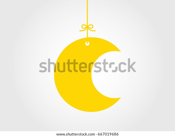 hanging crescent moon vector illustration stock vector royalty free 667019686 shutterstock