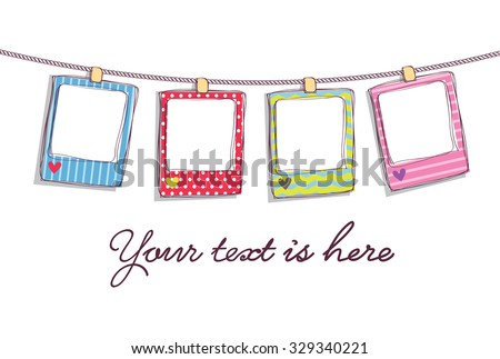 Hanging Cute Frame Stock Vector (Royalty Free) 329340221 - Shutterstock