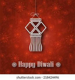 Hanging Diwali Lamp (Kandil) on Grunge Background