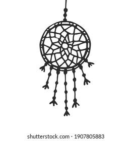 Hanging Dream Catcher - Vector Decoration