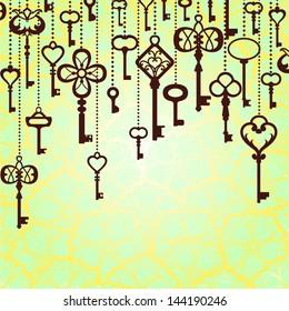 Hanging keys background