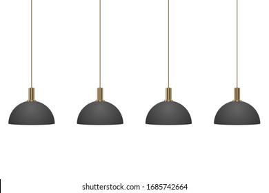 Hanging modern lamp vector design illustration isolated on white background