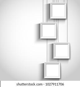 Hanging modern photo frame