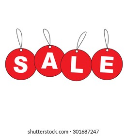 Hanging Sale tags , Vector