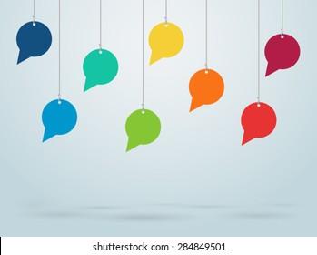 Hanging Speech Bubbles Vector Design