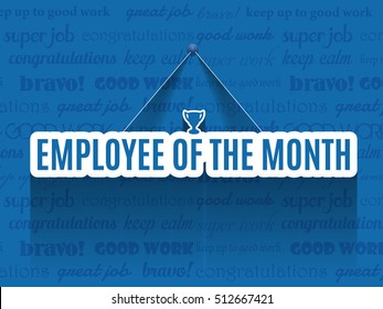 Hanging Text Employee of The Month Background