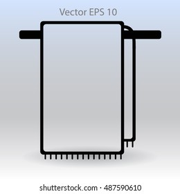 hanging towel rack vector icon