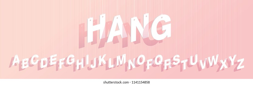 hanging typography design vector/illustration