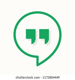 Hangouts messenger logo in line style. Chat icon, app, web. Vector illustration. EPS 10