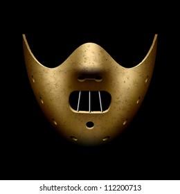Hannibal Halloween mask. Vector.