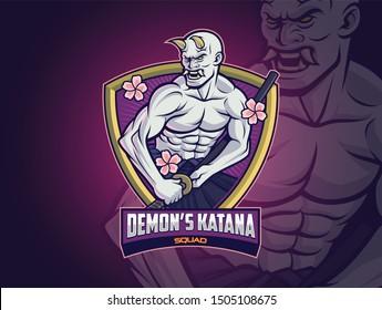 Hannya Demon Esports logo design for your squad