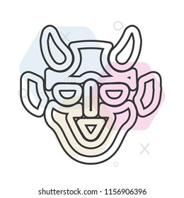 Hannya icon vector can be used as png, Hannya