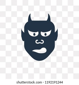 Hannya vector icon isolated on transparent background, Hannya transparency concept can be used web and mobile